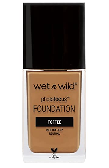 Wet n Wild photofocus foundation toffee pecan bottle
