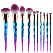 10 Pcs Rainbow Brush Set