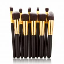 10pcs Black gold Kabuki makeup brush