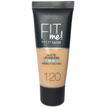 Maybelline fit me Foundation Pore Less Matte 120 tube